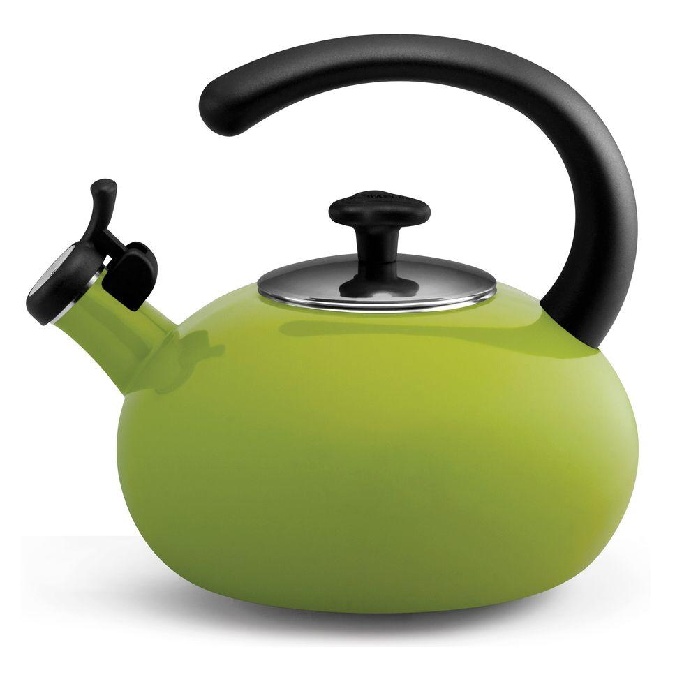 Rachael Ray 8-Cup Curve Teakettle in Green