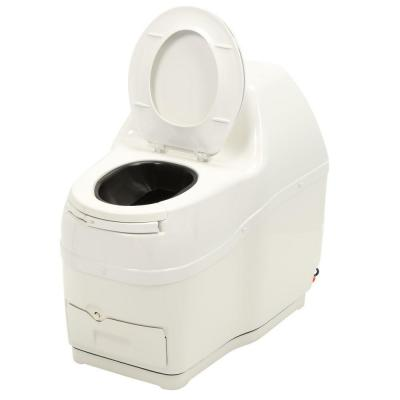 Compact Electric Waterless Medium Capacity Self Contained Composting Toilet in White