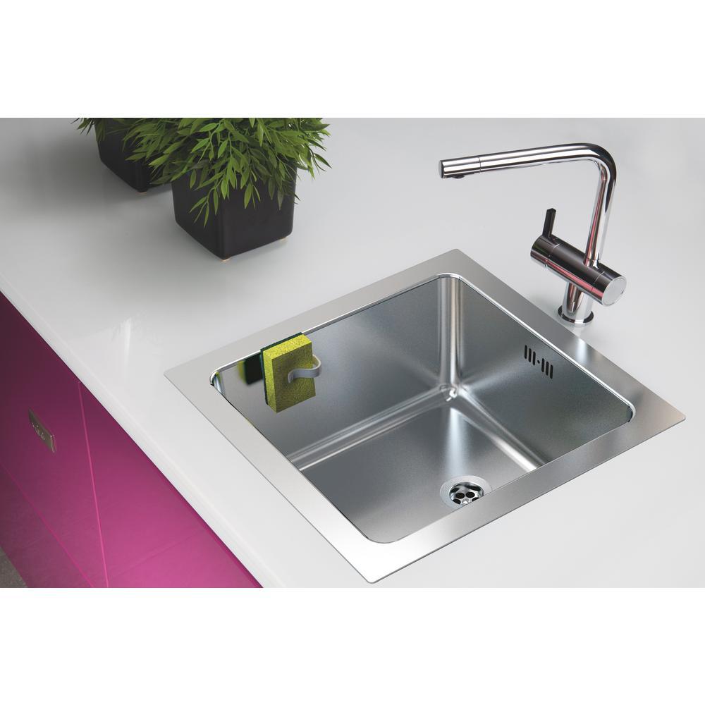 Kitchen Sink Sponge Holder.Magisso Black Sponge Holder 70190ds The Home Depot