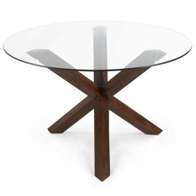 48 in. Kennedy Walnut Round Dining Table