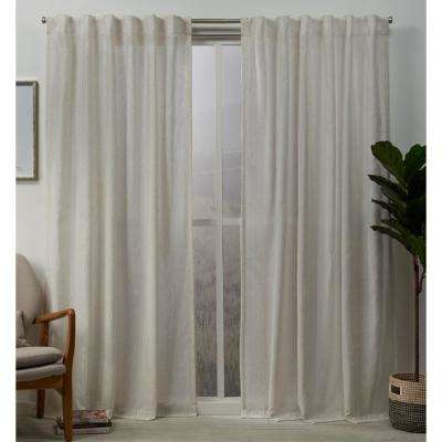 Muskoka 54 in. W x 84 in. L Embellished Hidden Tab Top Curtain Panel in Natural (2 Panels)