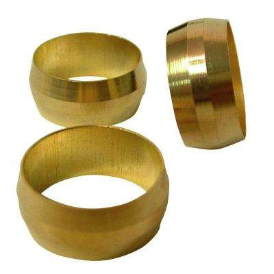 1/2 in. Compression Brass Sleeves (3-Pack)