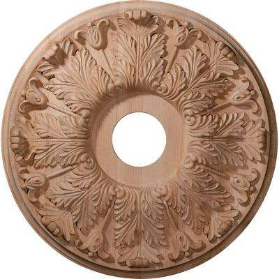 16 in. Unfinished Maple Carved Florentine Ceiling Medallion