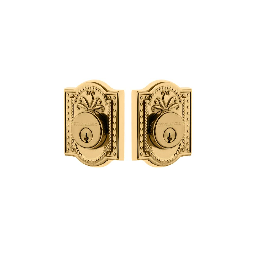 Schlage Camelot Bright Brass Double Cylinder Deadbolt With