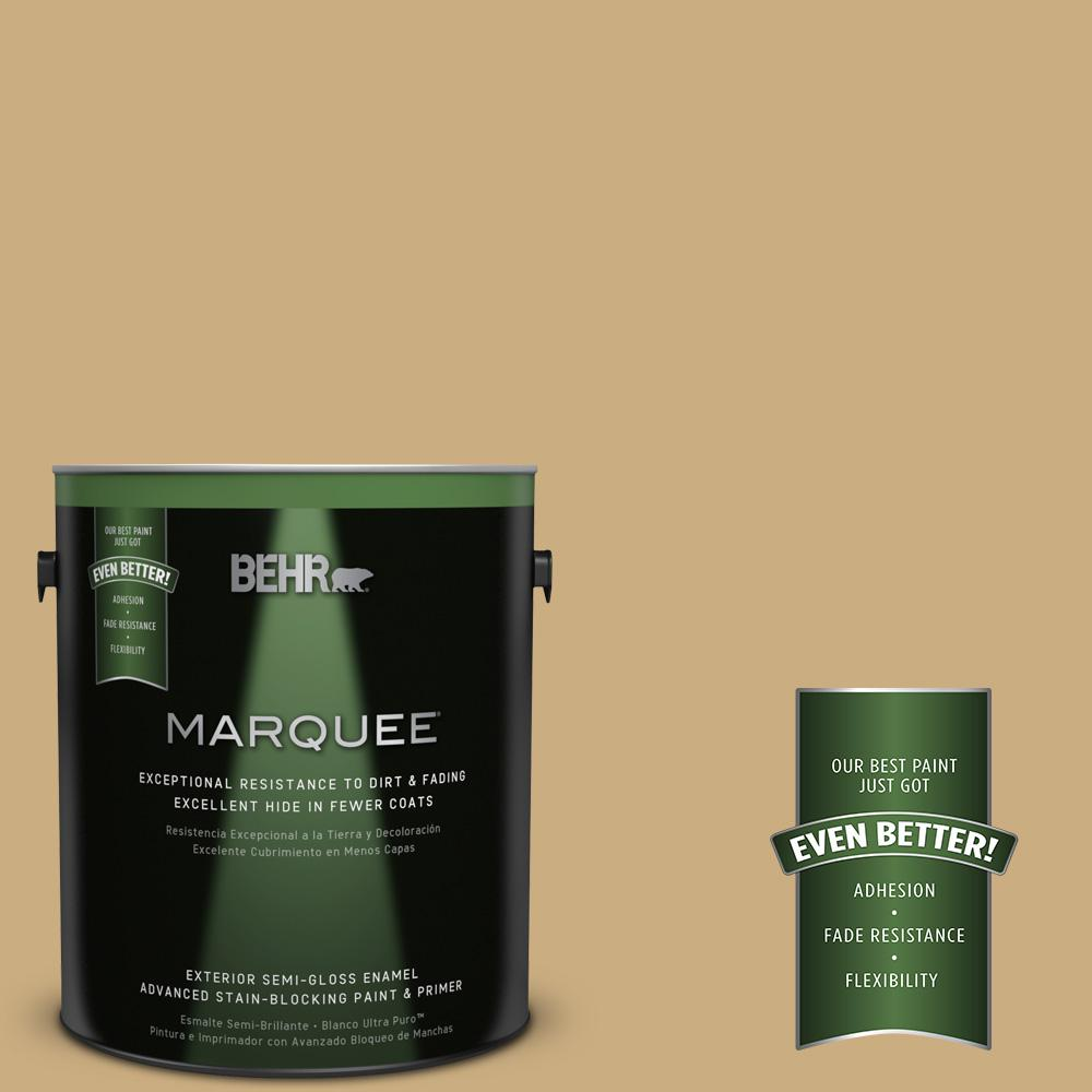 BEHR MARQUEE 1-gal. #S310-4 Perennial Gold Semi-Gloss Enamel Exterior Paint