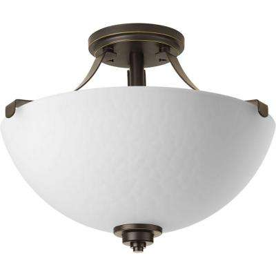 Legend Collection 2-Light Antique Bronze Semi-Flush Mount