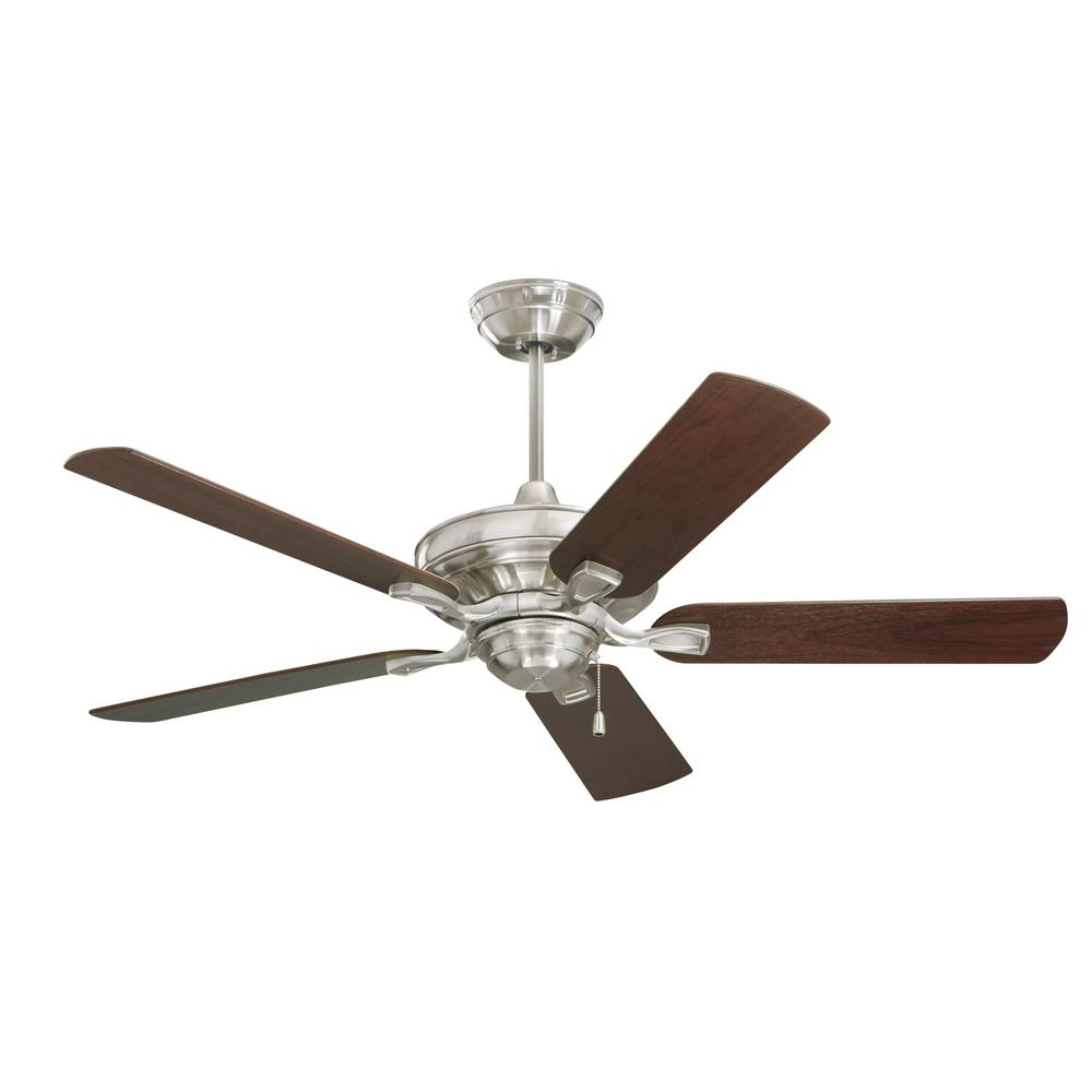 Ceiling Fans Product : Monte carlo vision in brushed steel ceiling fan with