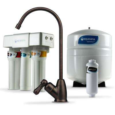 OptimH2O Reverse Osmosis Claryum Under-Counter Water Filtration System with Oil-Rubbed Bronze Faucet