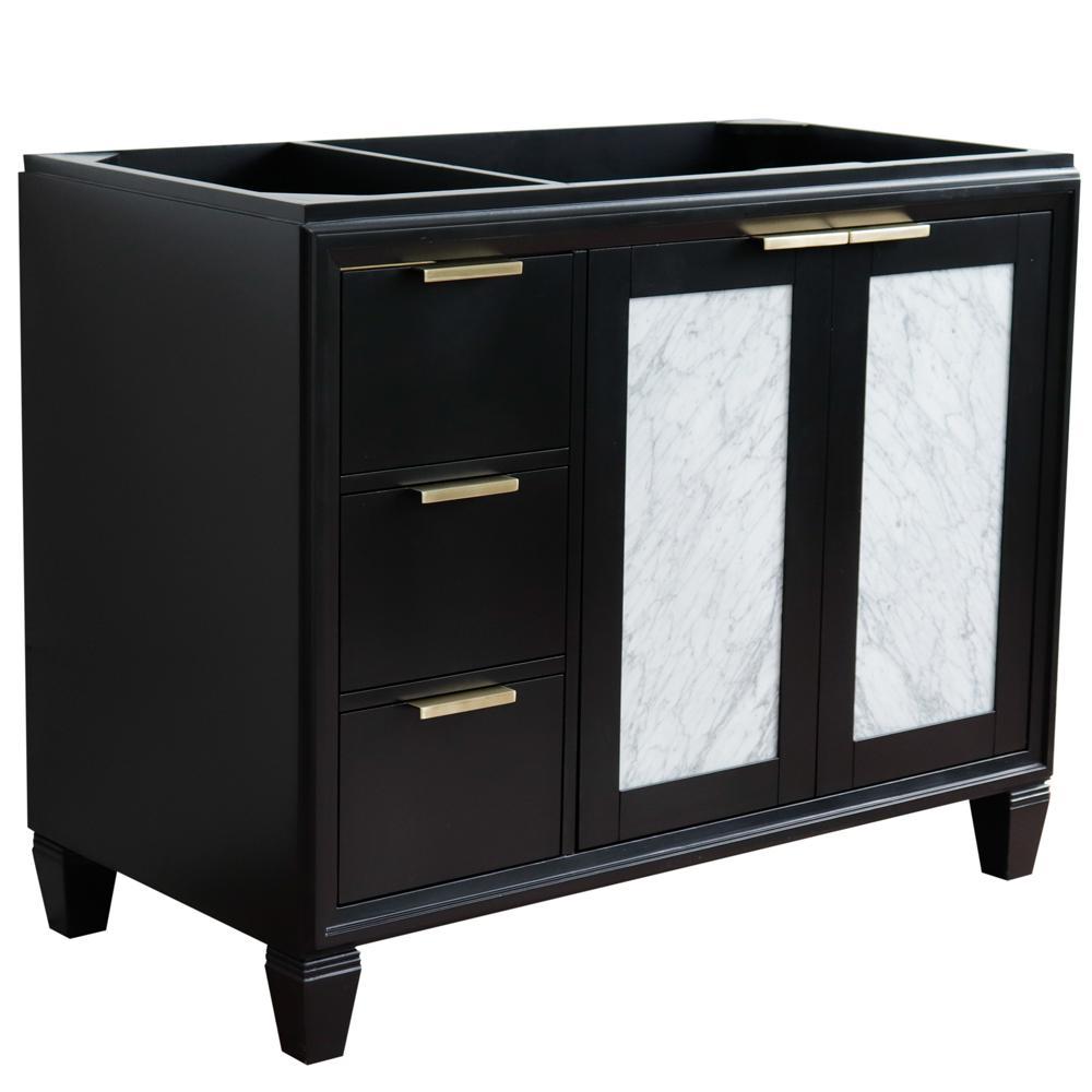42 in. W x 21.5 in. D Single Bath Vanity Cabinet Only in Black