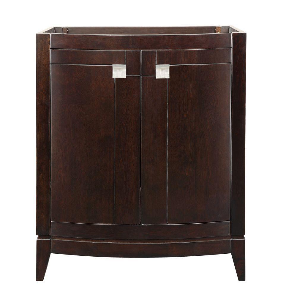 DECOLAV Gavin 30 in. W x 21.50 in. D x 35.25 in. H Birch Vanity Cabinet Only in Espresso