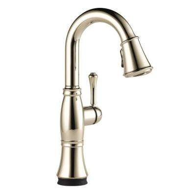 Cassidy Touch Single-Handle Pull-Down Sprayer Bar Faucet in Polished Nickel