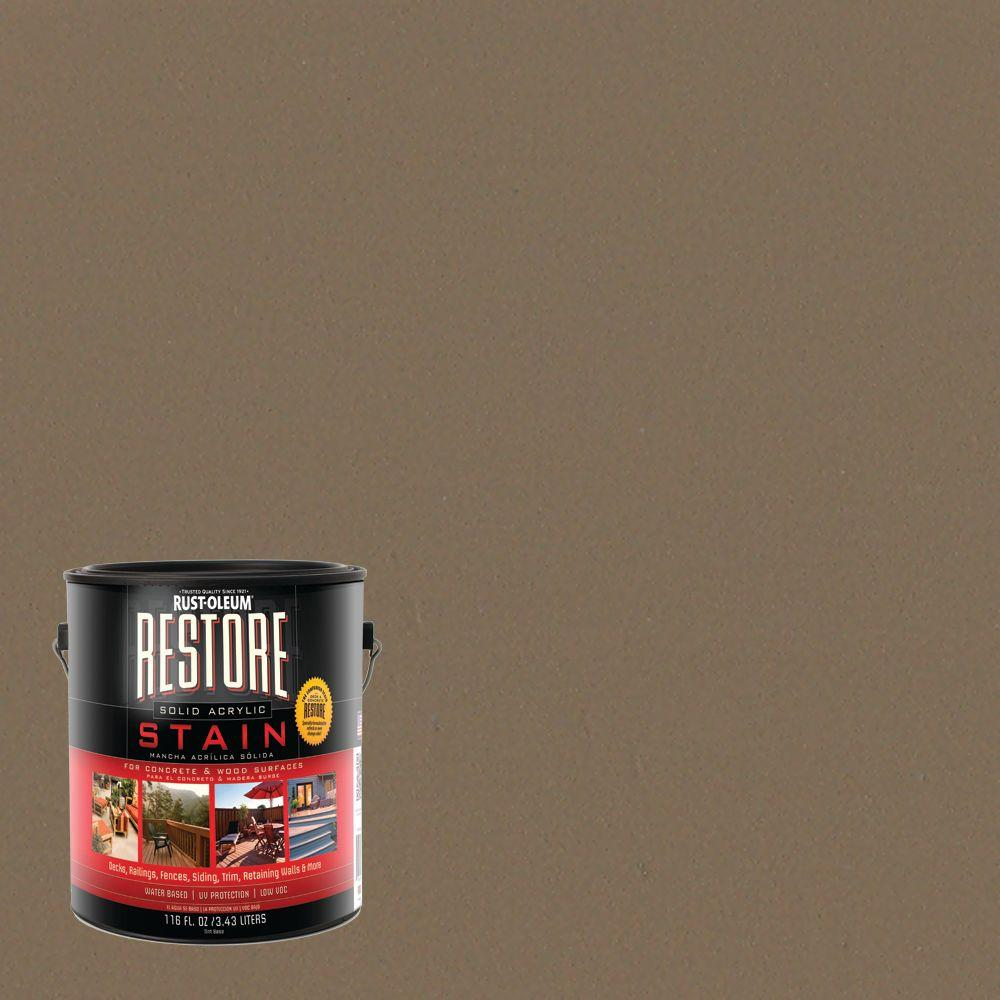Rust-Oleum Restore 1 gal. Solid Acrylic Water Based River Rock Exterior Stain