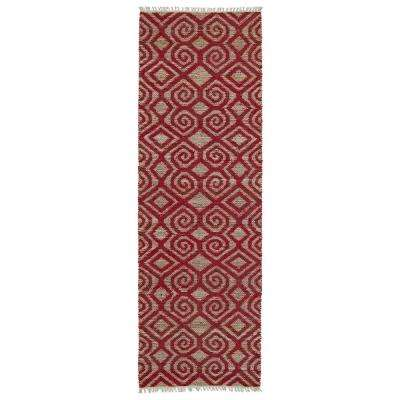 Kenwood Red 2 ft. x 6 ft. Double Sided Runner Rug
