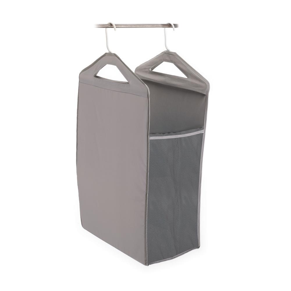 Hanging Closet Hamper in Gray