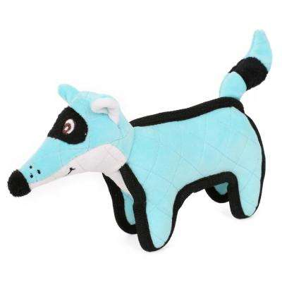 Blue Foxy-Tail Quilted Plush Animal Squeak Chew Tug Dog Toy
