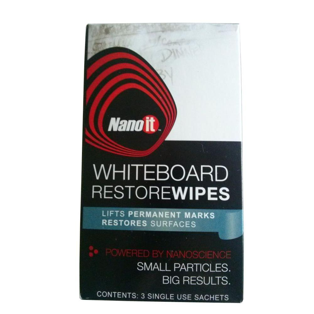 NanoIt Nano It Whiteboard Restore Wipes (3-Pack)