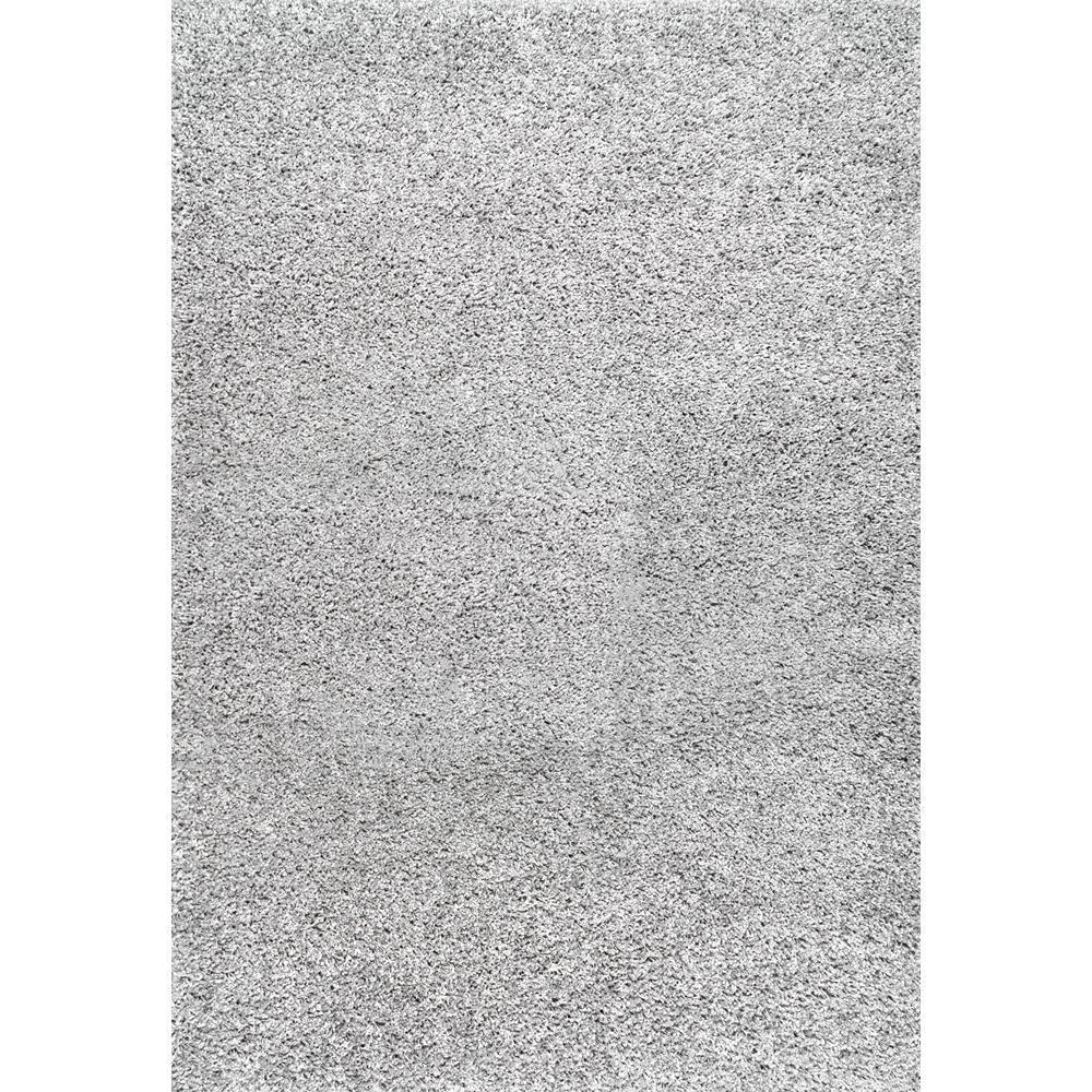 Marleen Plush Shag Silver 9 ft. x 12 ft. Area Rug