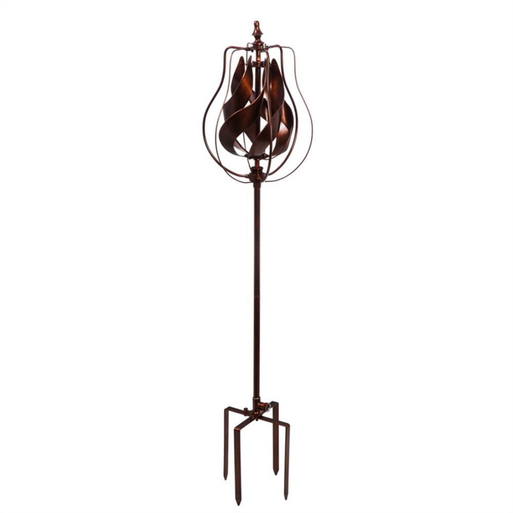 Copper Tulip 64 in. Hydro Kinetic Wind Spinner