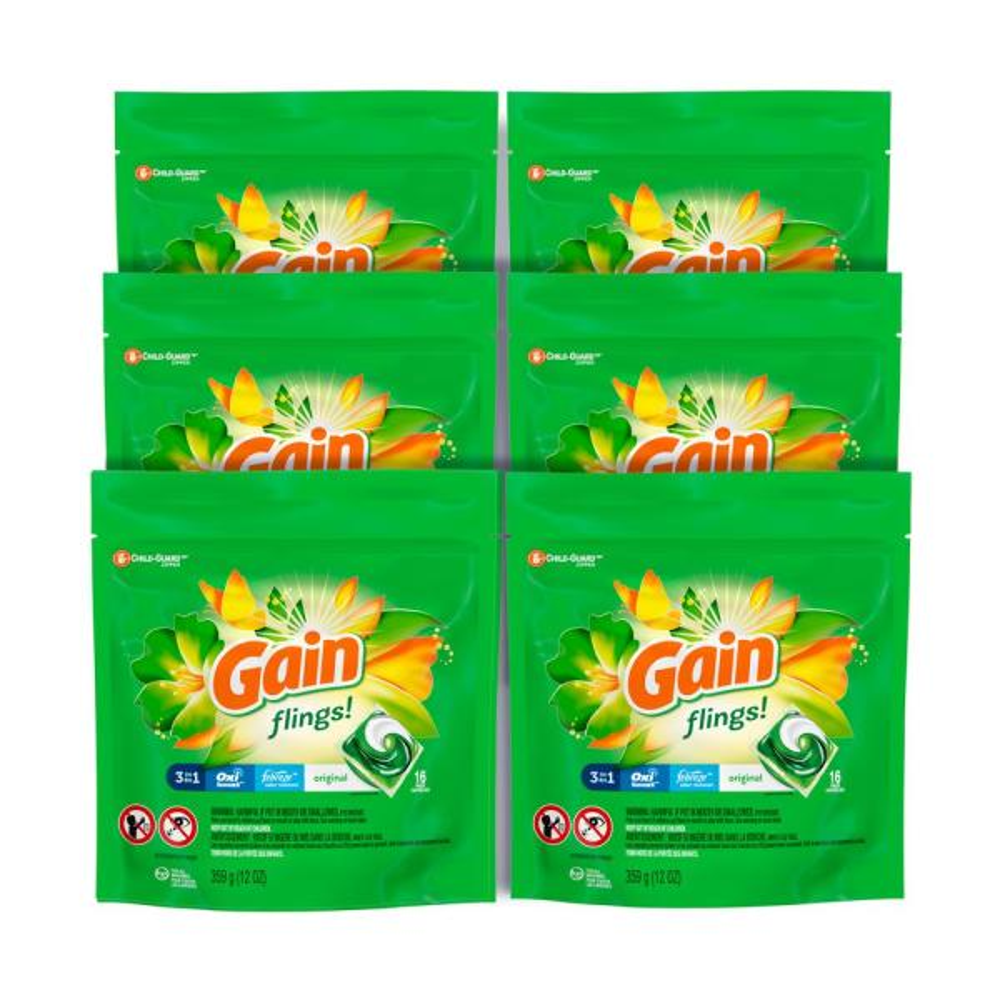 Flings Original Scent Laundry Detergent (16-Count, 6-Pack)