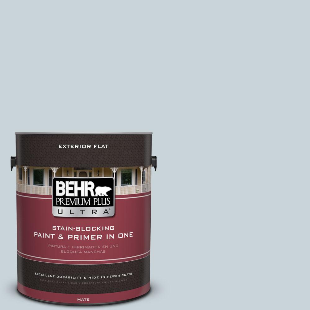 BEHR Premium Plus Ultra 1-gal. #PPL-73 Tranquil Sea Flat Exterior Paint