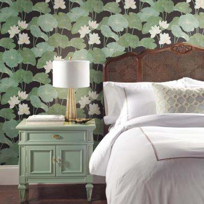 28.18 sq. ft. Lily Pad Peel and Stick Wallpaper