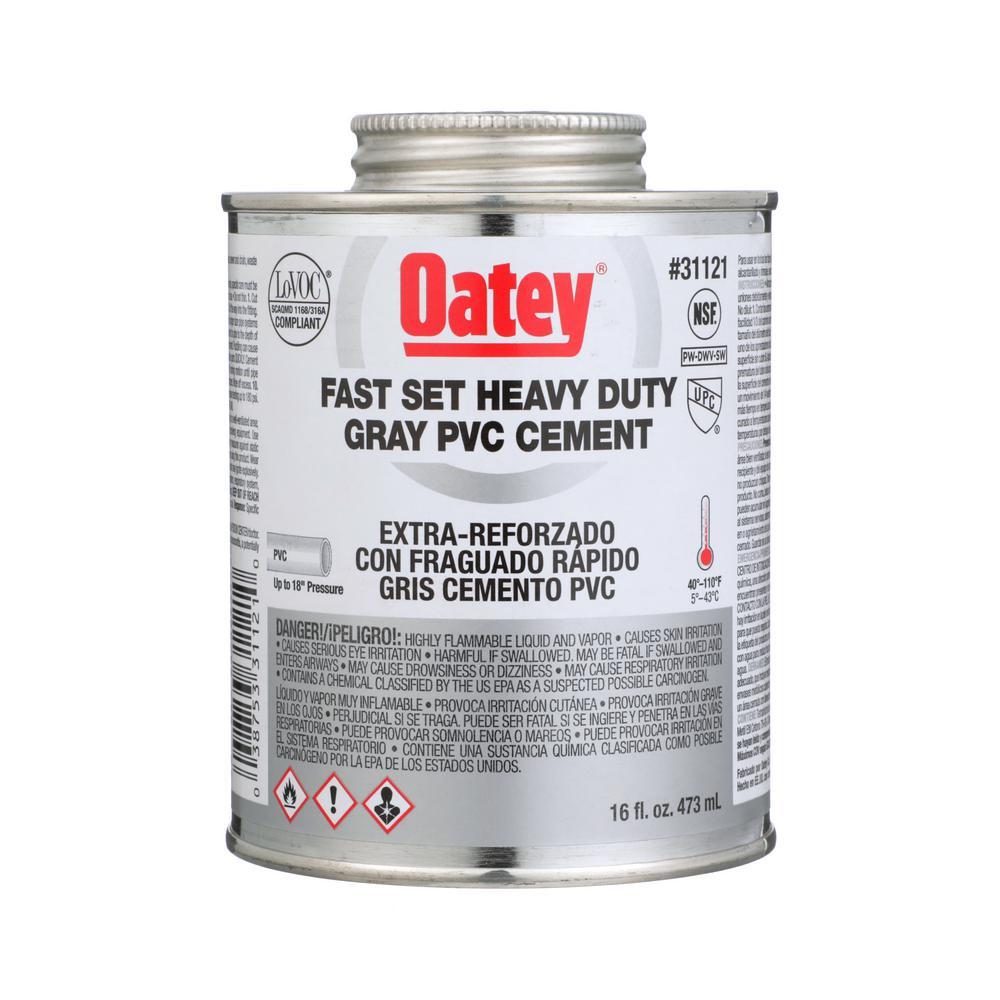 Oatey 16 Oz Heavy Duty Gray Pvc Cement 311213 The Home Depot