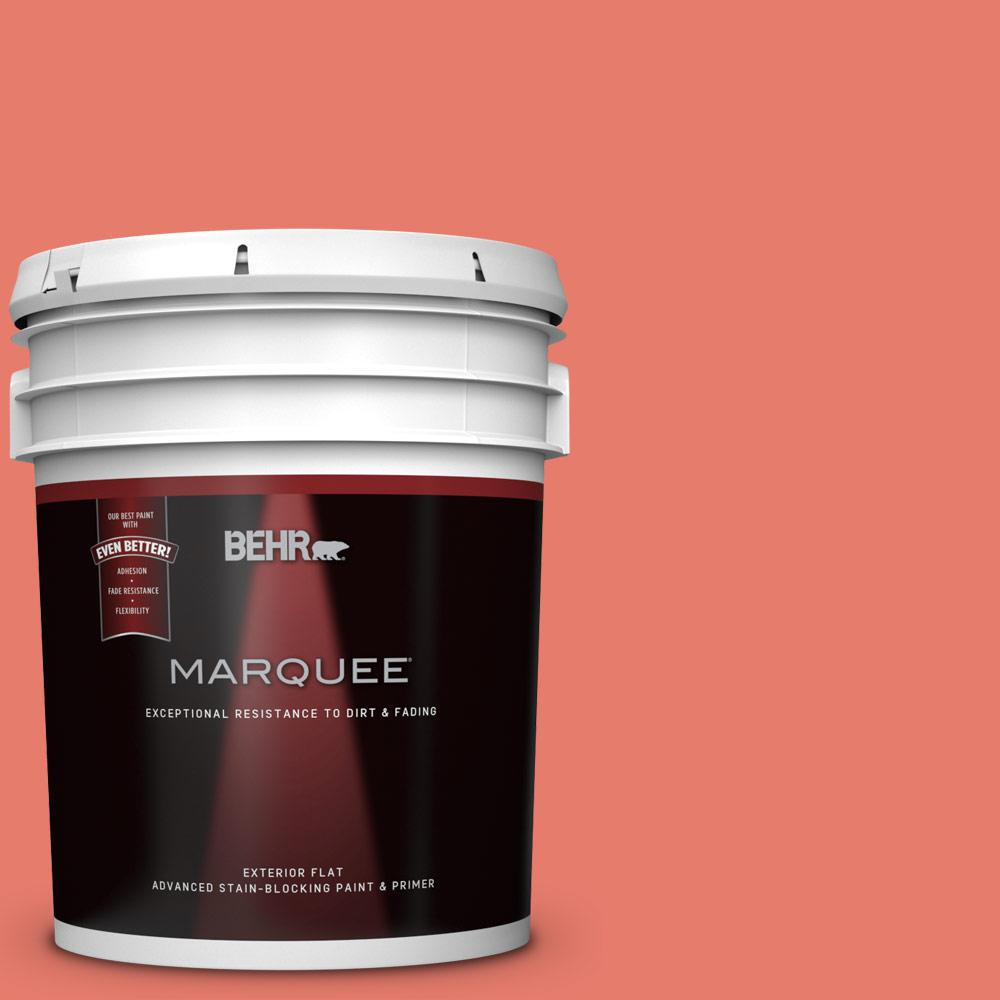 BEHR MARQUEE 5-gal. #HDC-SM14-12 Cosmic Coral Flat Exterior Paint
