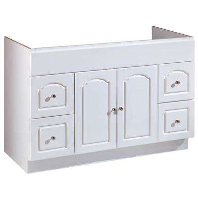 48 in. W x 21 in. D Vanity Cabinet Only in White Finish