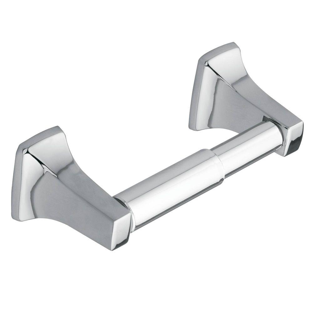 Moen Donner Contemporary Double Post Toilet Paper Holder In Chrome