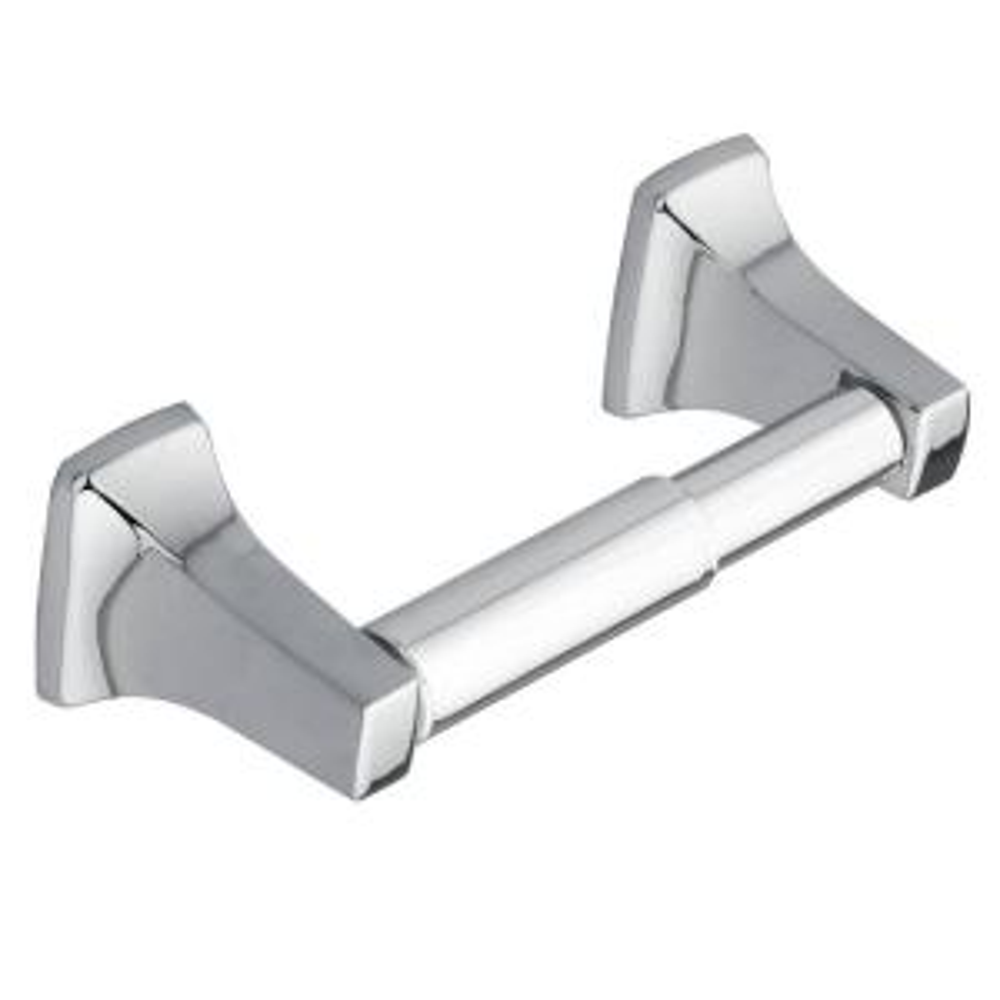 Moen Donner Contemporary Double Post Toilet Paper Holder in Chrome by MOEN