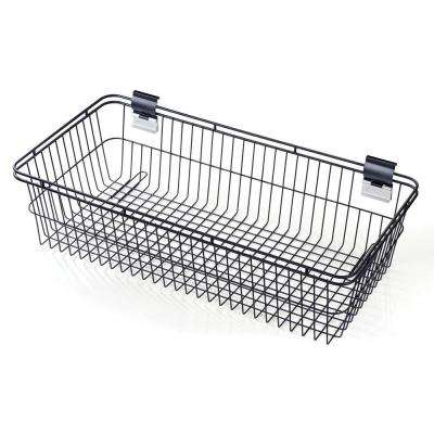 Slatwall 30 in. H Steel Basket