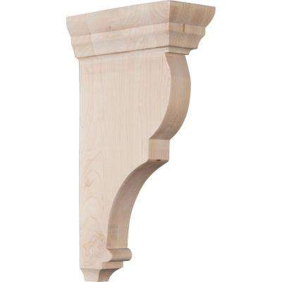 3 in. x 12 in. x 6-1/2 in. Maple Large Rojas Wood Corbel