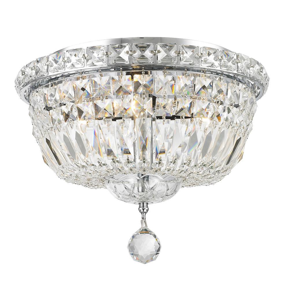 Empire Collection 4-Light Chrome Ceiling Light