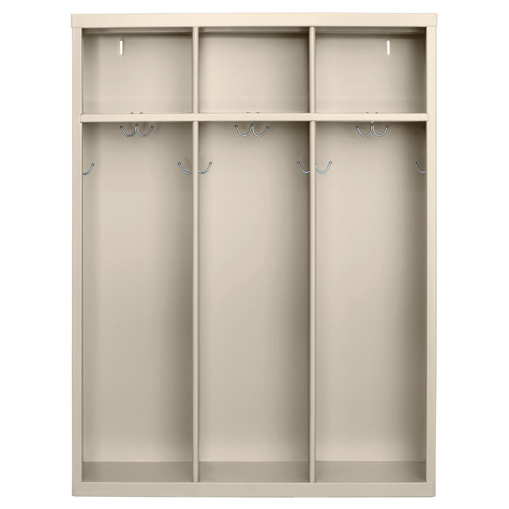 Sandusky 1-Shelf Steel Open Front Kids Locker in Putty