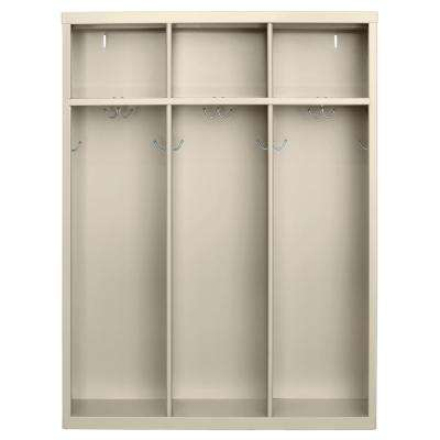 1-Shelf Steel Open Front Kids Locker in Putty