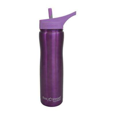Summit Triple Insulated 24 fl. oz. Stainless Steel Bottle with Flip Straw