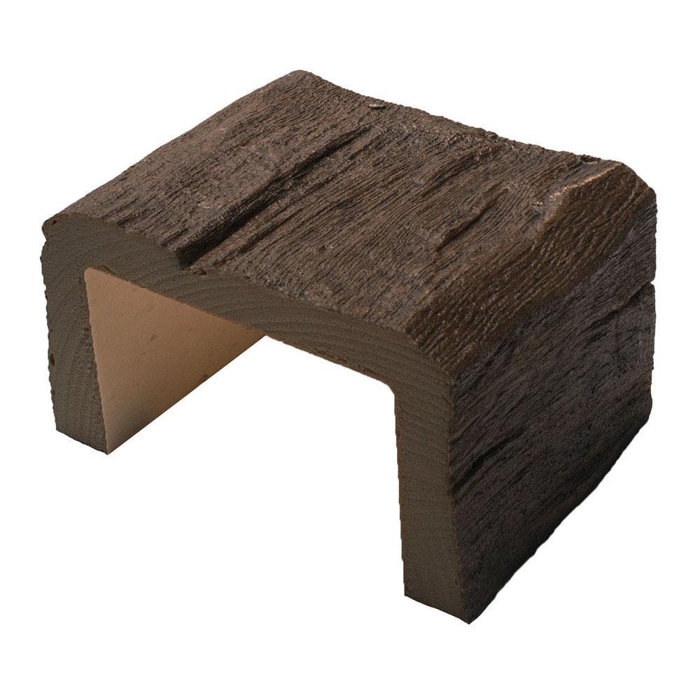 8 in. x 5-1/8 in. x 6 in. Long Faux Wood Beam Sample