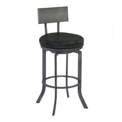 Aries 30 in. Black Bar Stool