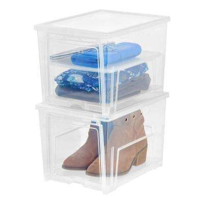 1 Pair Easy Access Women's Shoe Storage Box (2-Pack)