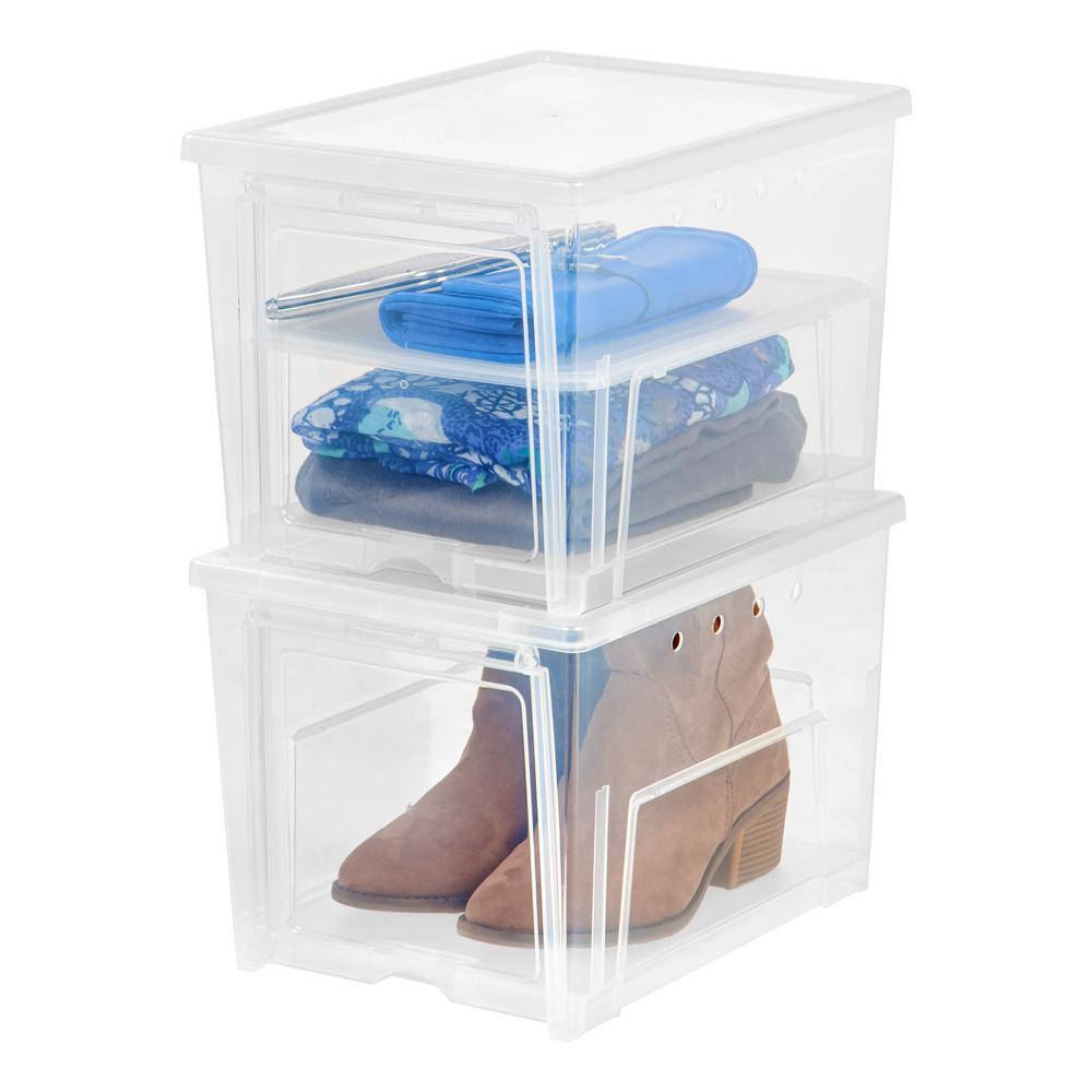 1 Pair Easy Access Women's Shoe Storage Box (2-Pack)