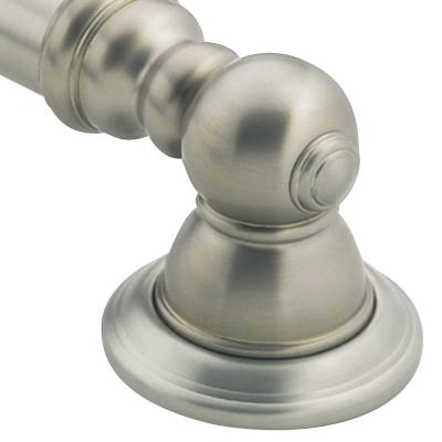 Kingsley 24 in. x 1-1/4 in. Concealed Screw Grab Bar in Brushed Nickel