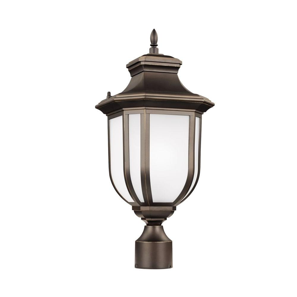 Childress 1-Light Antique Bronze Post Lantern