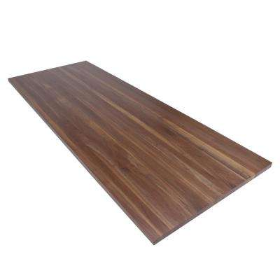 8 ft. L x 3 ft. D x 1.5 in. T Butcher Block Countertop in Finished Walnut