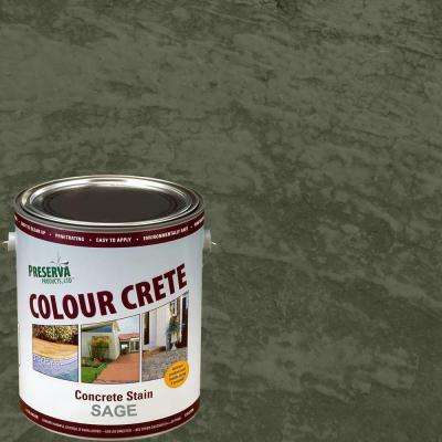 1 gal. Sage Semi-Transparent Water-Based Exterior Concrete Stain