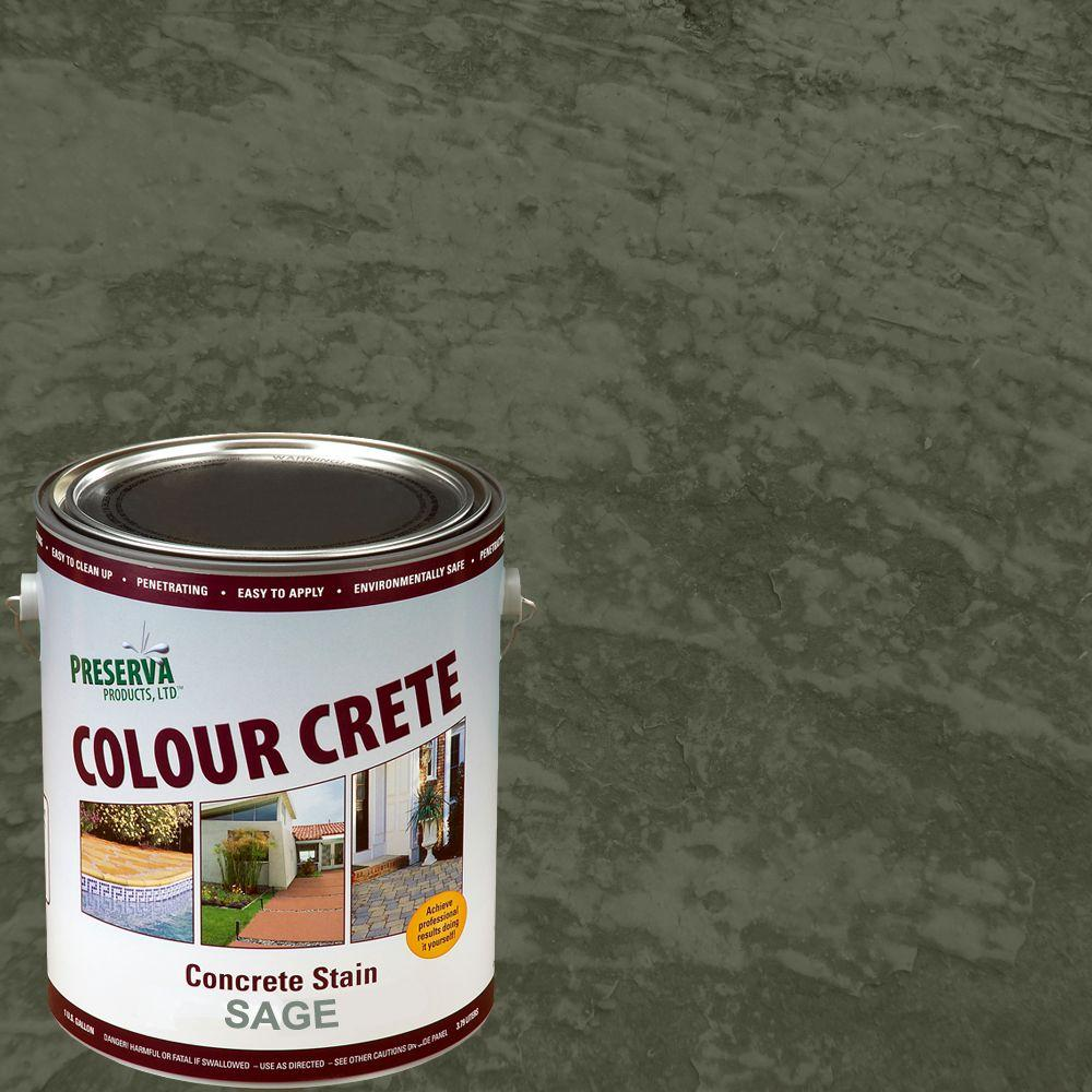 Colour Crete 1 gal. Sage Semi-Transparent Water-Based Exterior Concrete Stain