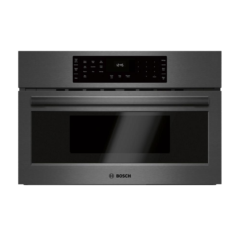 800 Series 30 In 1 6 Cu Ft 240 Volt Built Convection Microwave Black Stainless Steel With Sdchef Cooking