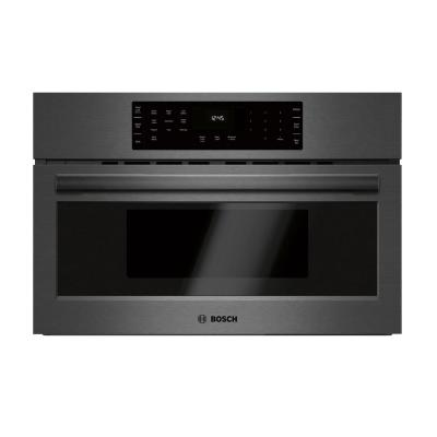 800 Series 30 in. 1.6 cu. ft. 240 Volt Built-in Convection Microwave in Black Stainless Steel with SpeedChef Cooking