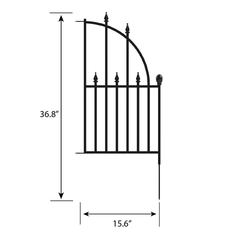 Empire 2.44 ft. x 1.46 ft. Metal Fence Panel End Unit