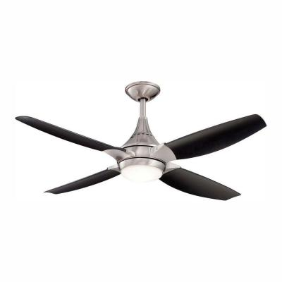 Saleen 52 in. LED Indoor Gunmetal Ceiling Fan with Light Kit and Remote Control