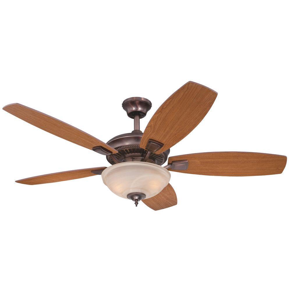 Tulsa 52 in. Indoor Oil-Brushed Bronze Ceiling Fan